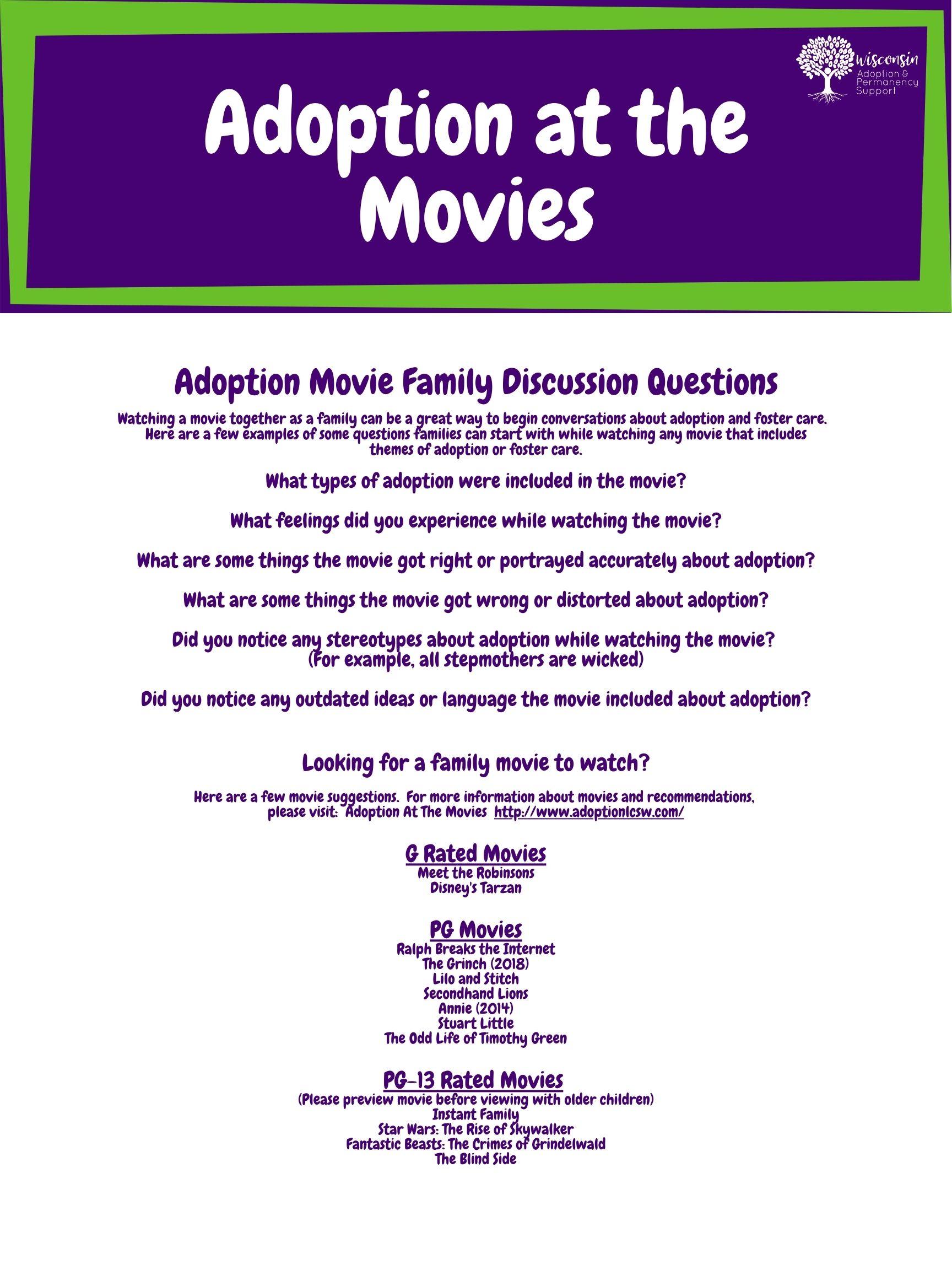 Adoption at the Movies